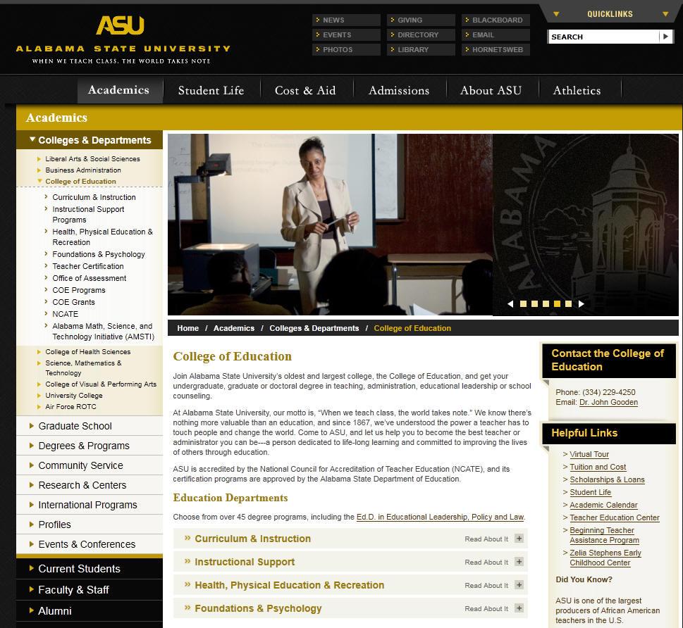 Alabama State University College of Education