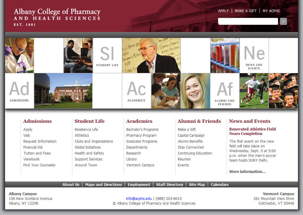 Albany College of Pharmacy and Health Sciences ACPHS