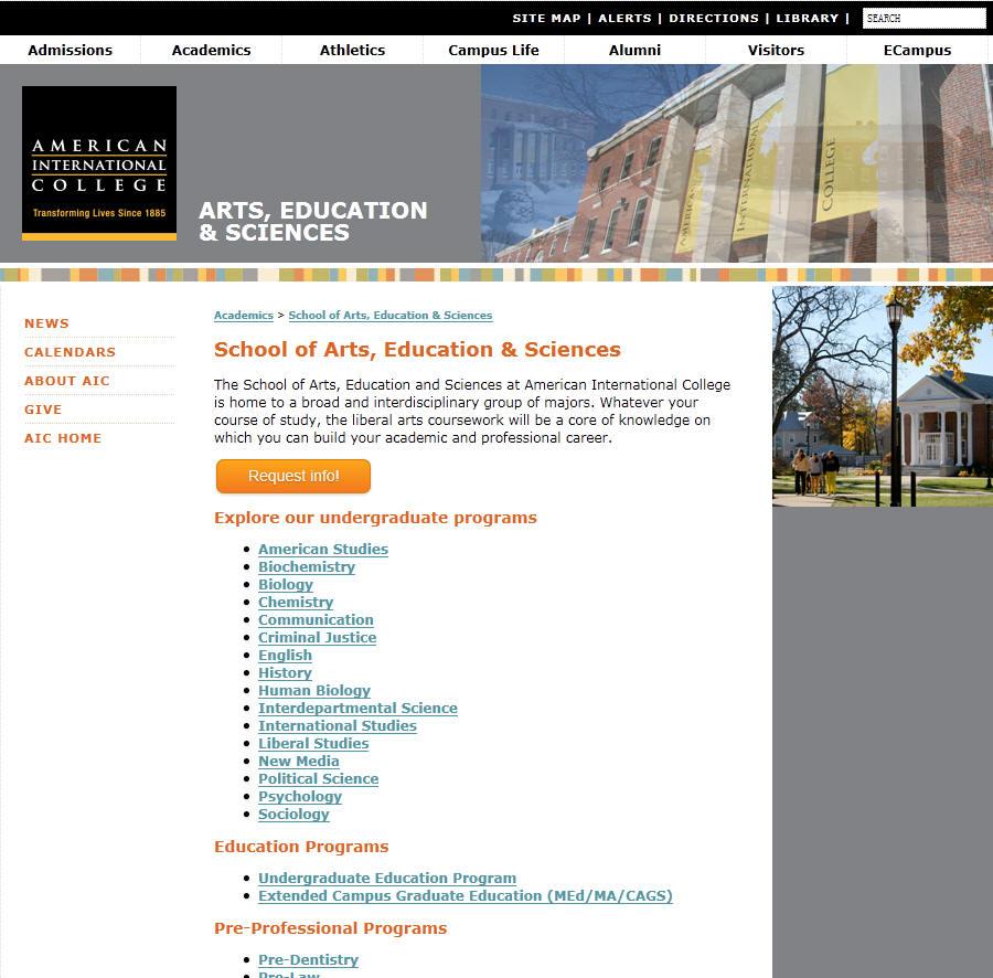 American International College School of Arts Education Sciences