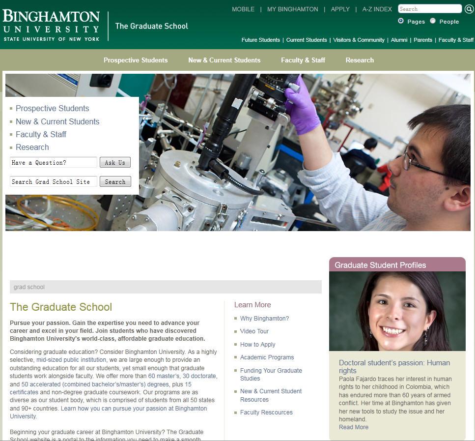 Binghamton University SUNY School of Graduate Education
