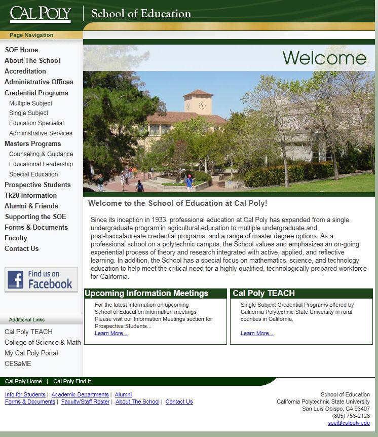 California Polytechnic State University San Luis Obispo School of Education