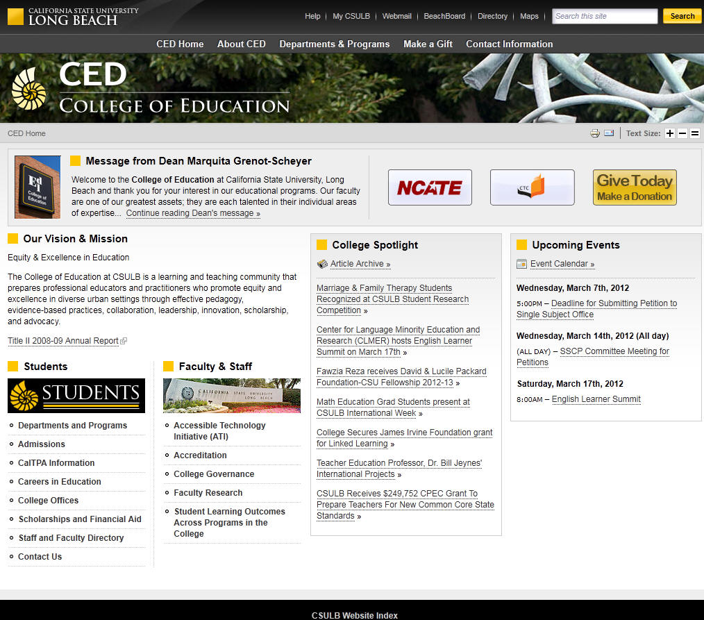 California State University Long Beach College of Education