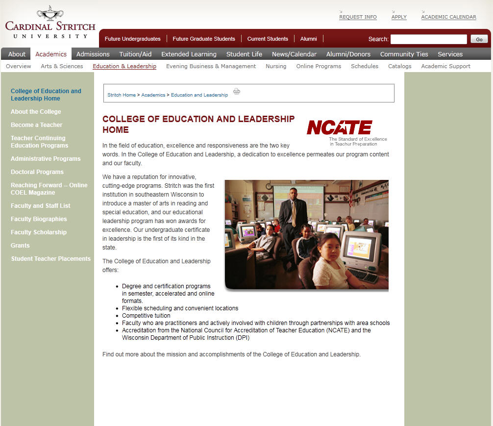 Cardinal Stritch University College of Education and Leadership