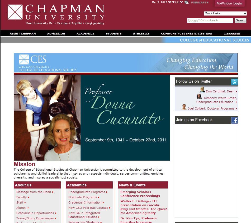 Chapman University College of Education Studies