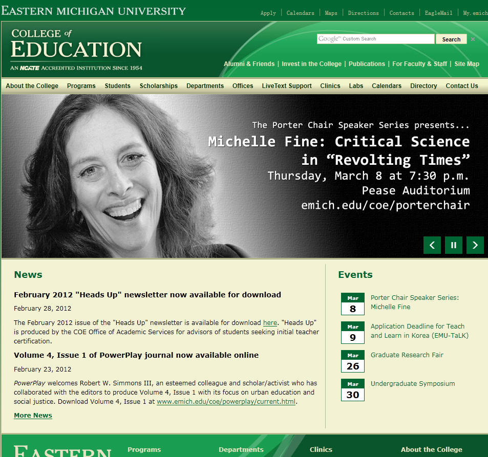 Eastern Michigan University College of Education