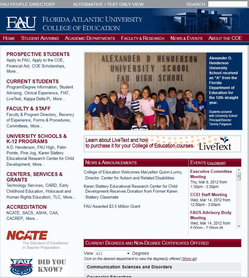 Florida Atlantic University College of Education
