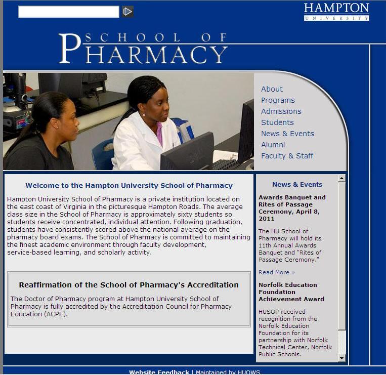 Hampton University School of Pharmacy