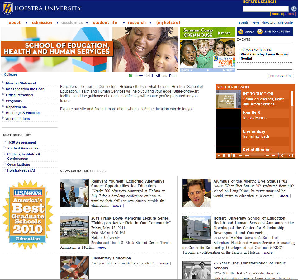 Hofstra University School of Education Health and Human Services