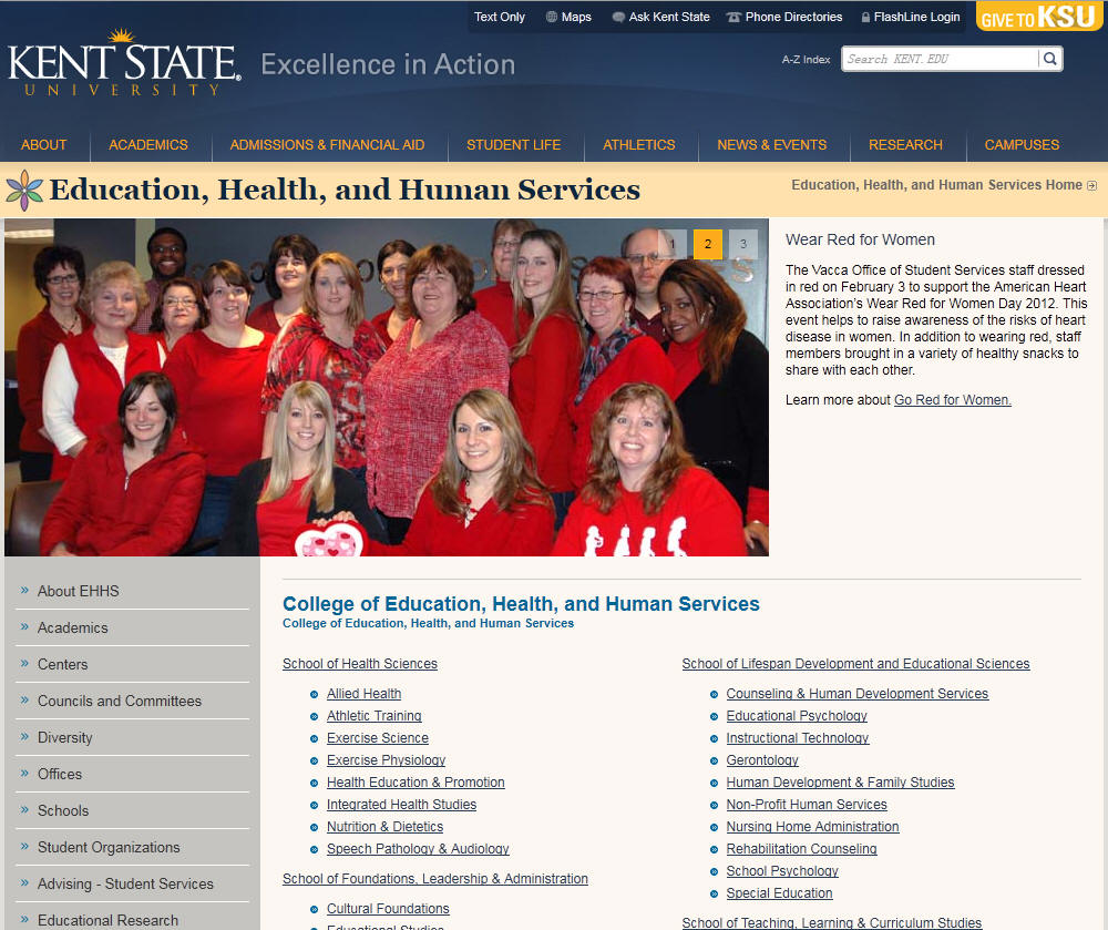 Kent State University College of Education Health and Human Services