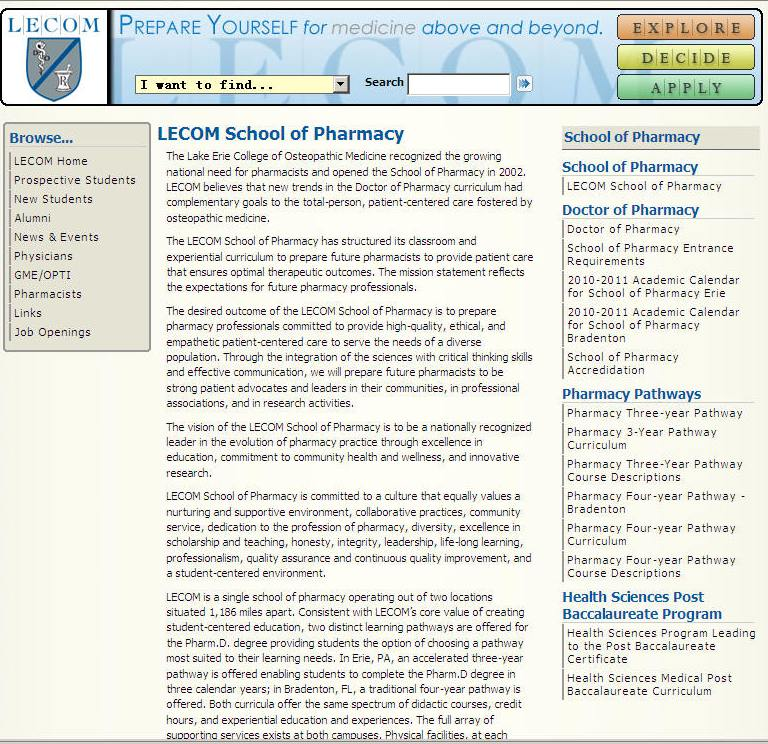 Usciences Academic Calendar.Pennsylvania Pharmacy Schools Microedu Com