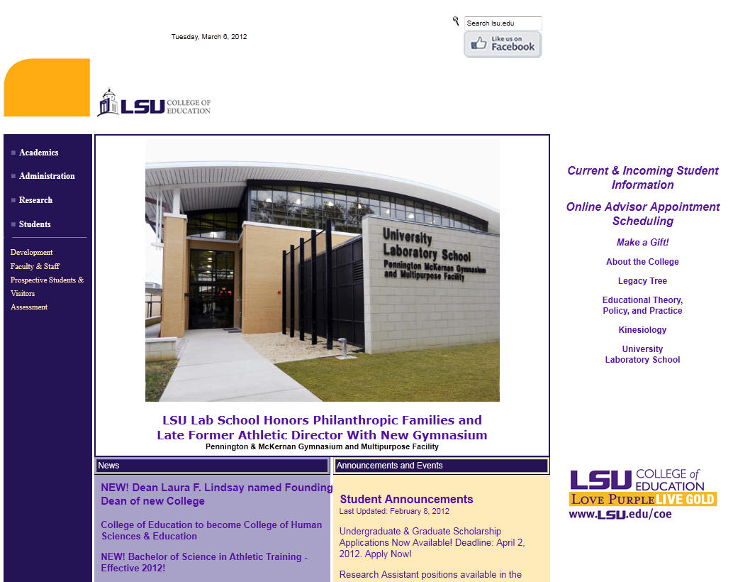 Louisiana State University Baton Rouge College of Education