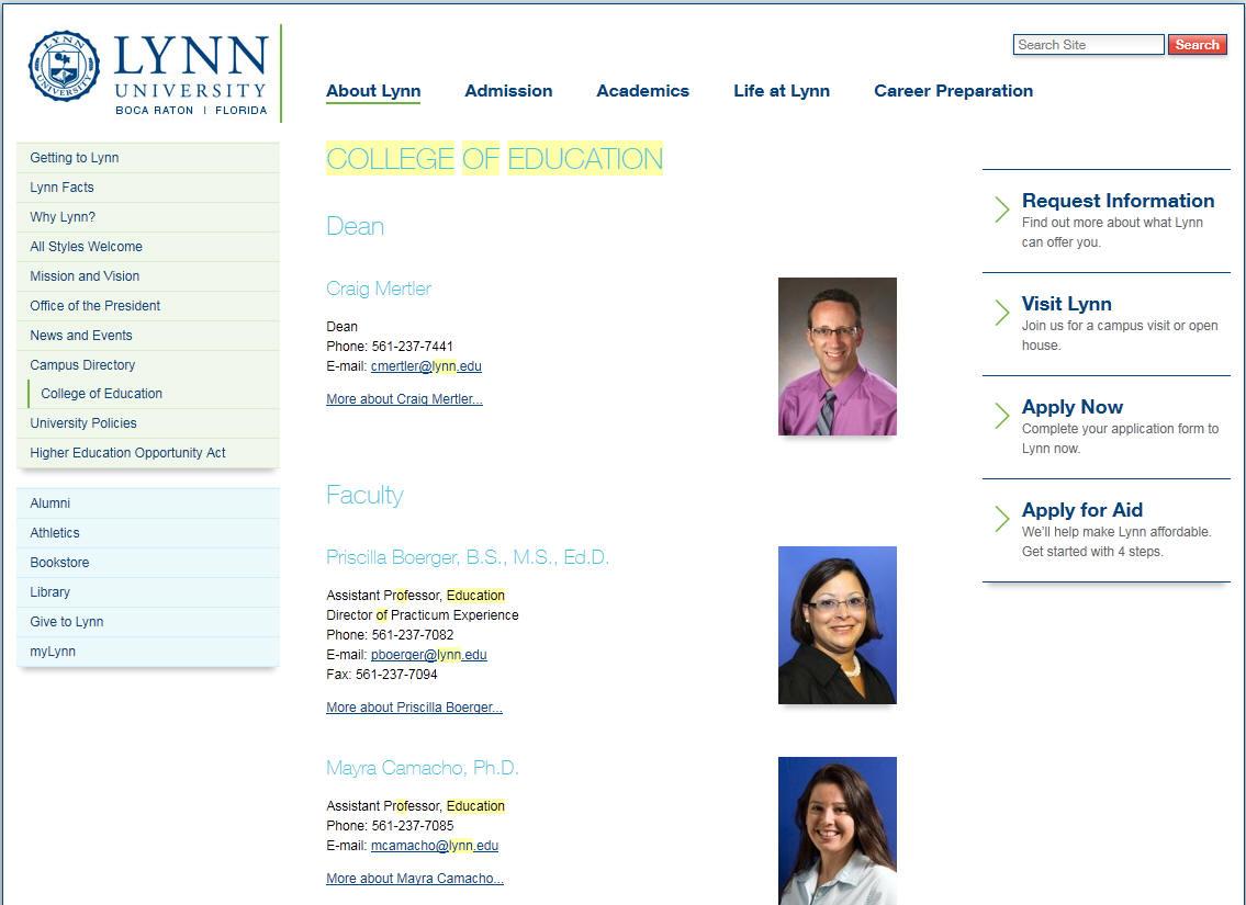 Lynn University College of Education