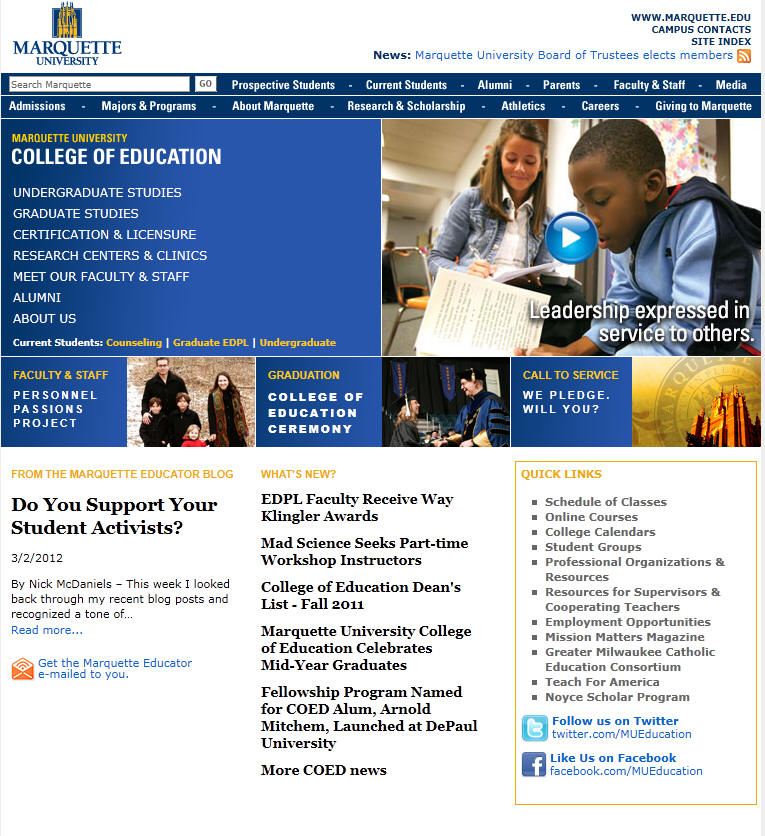 Marquette University College of Education