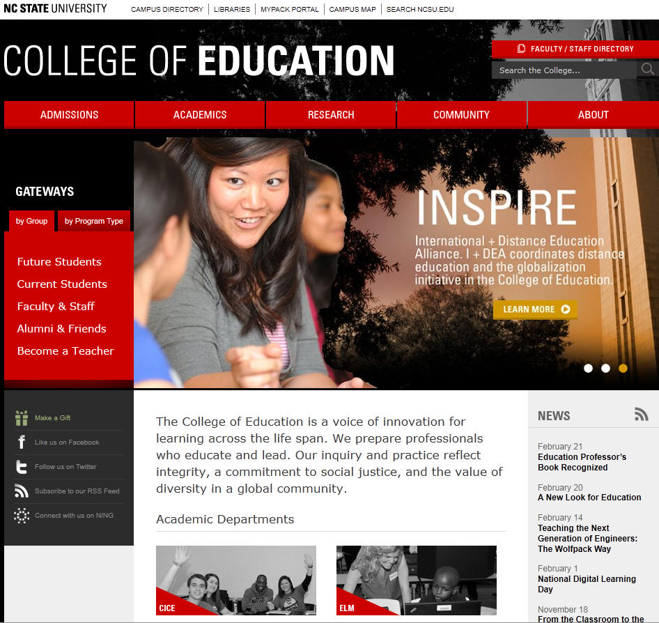 North Carolina State University Raleigh College of Education