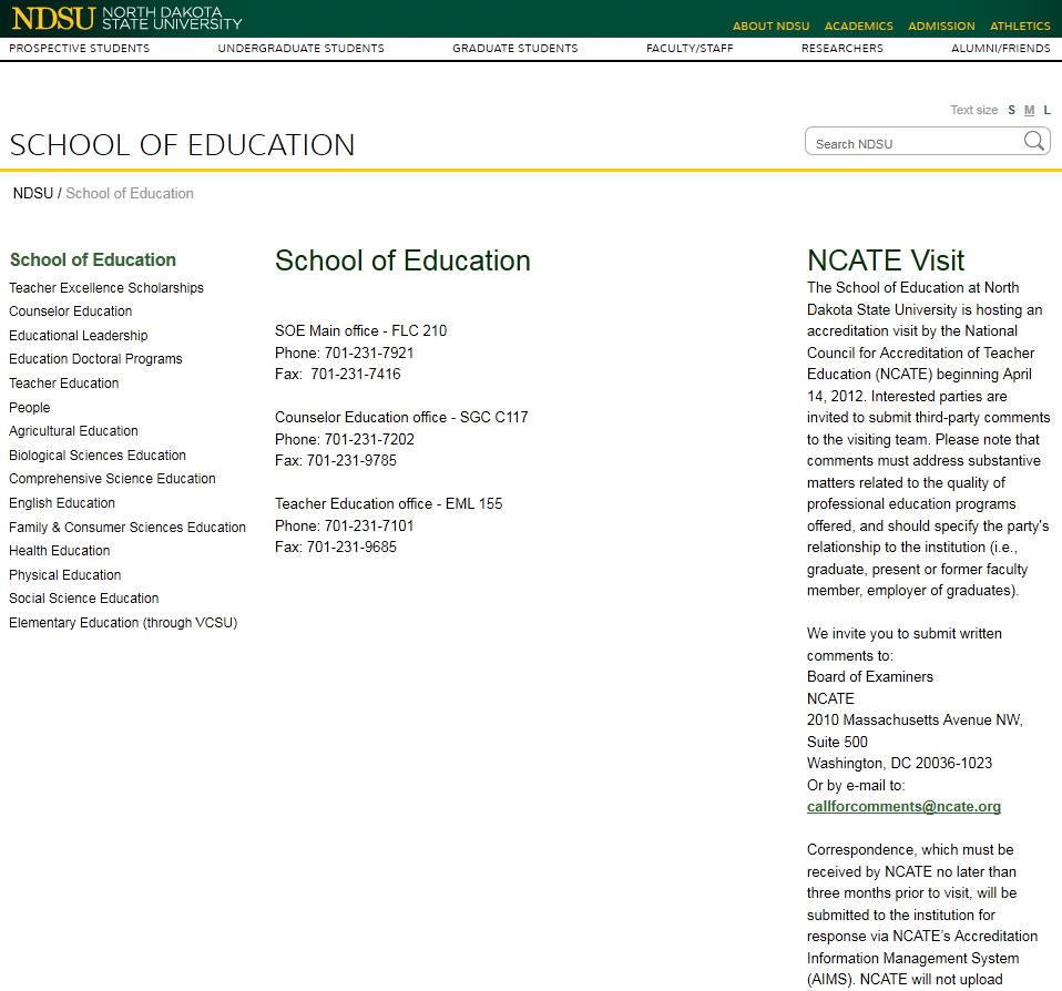 North Dakota State University School of Education