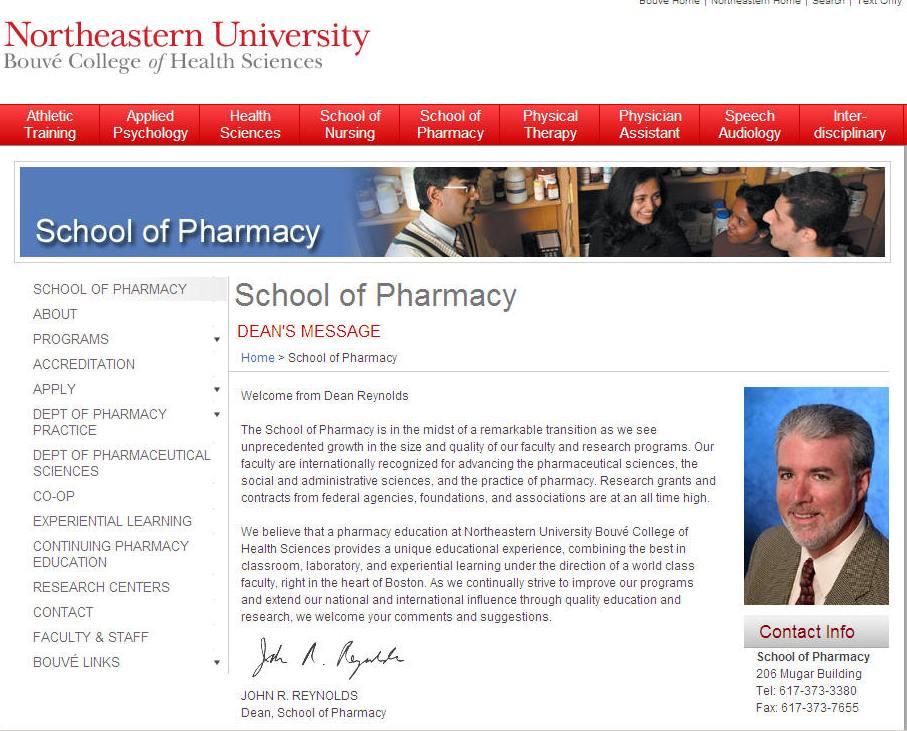 Northeastern University School of Pharmacy