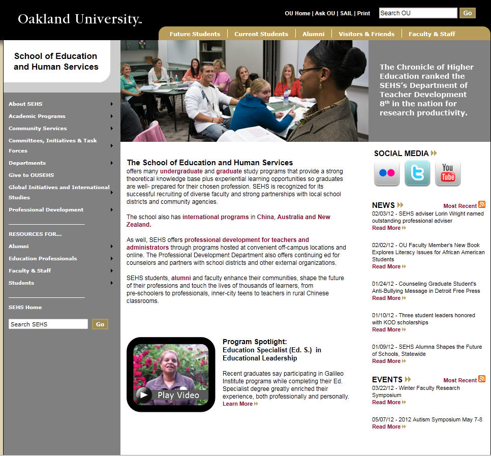 Oakland University School of Education and Human Services