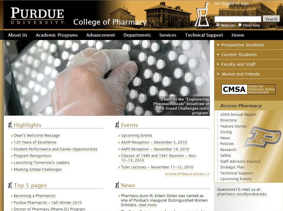 Purdue University-West Lafayette College of Pharmacy