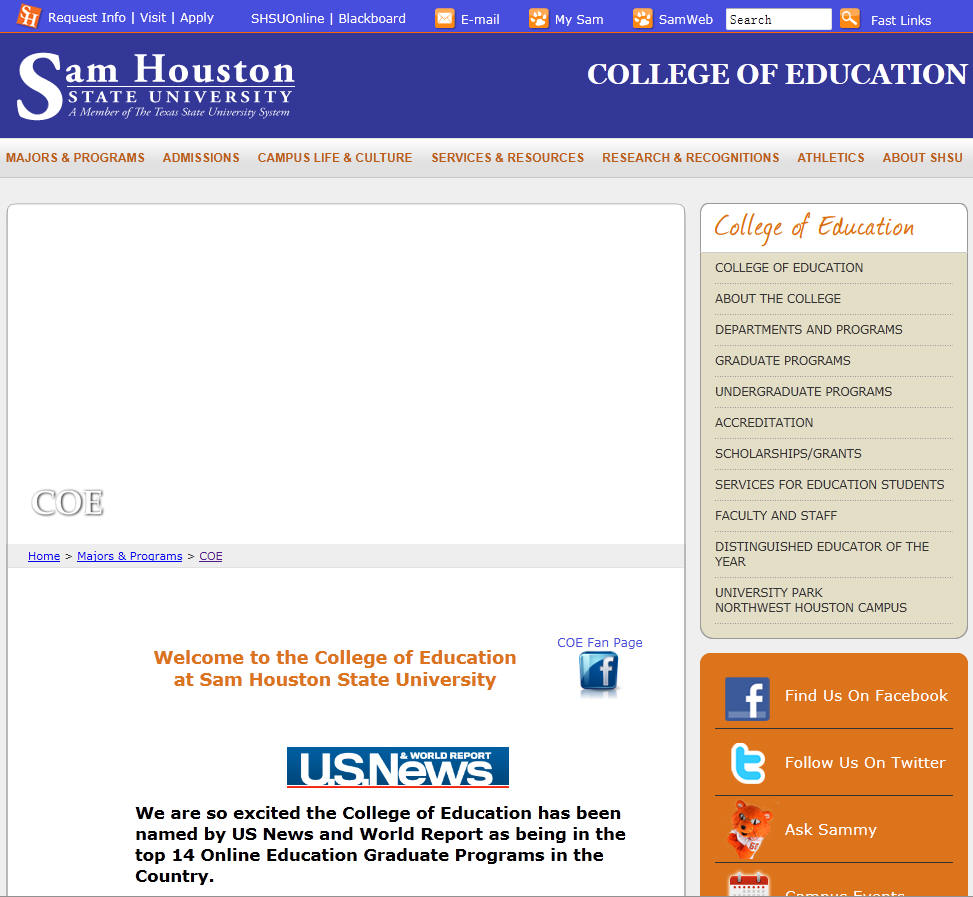Sam houston state admissions essay