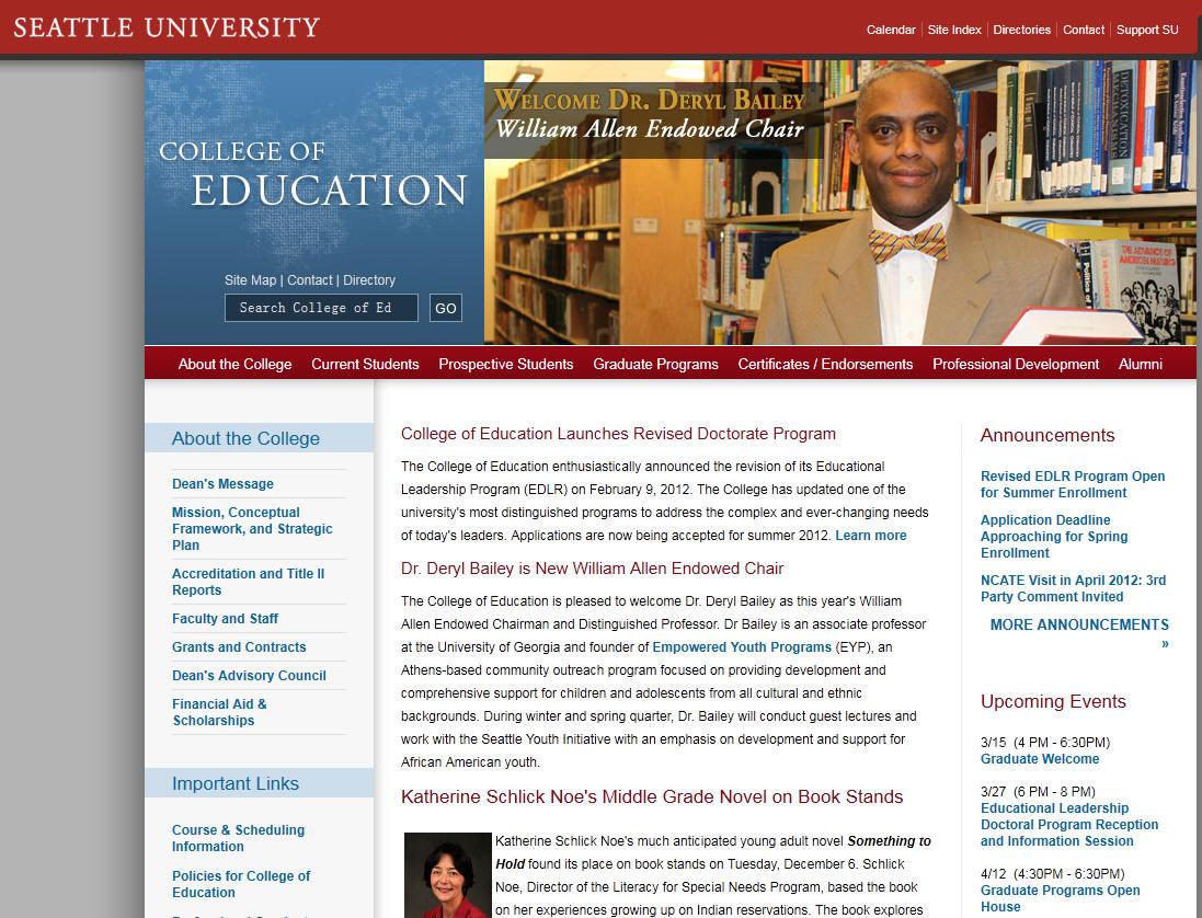Seattle University College of Education