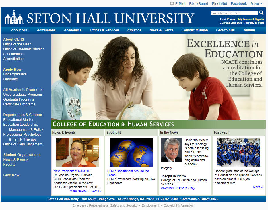 Seton Hall University College of Education and Human Services