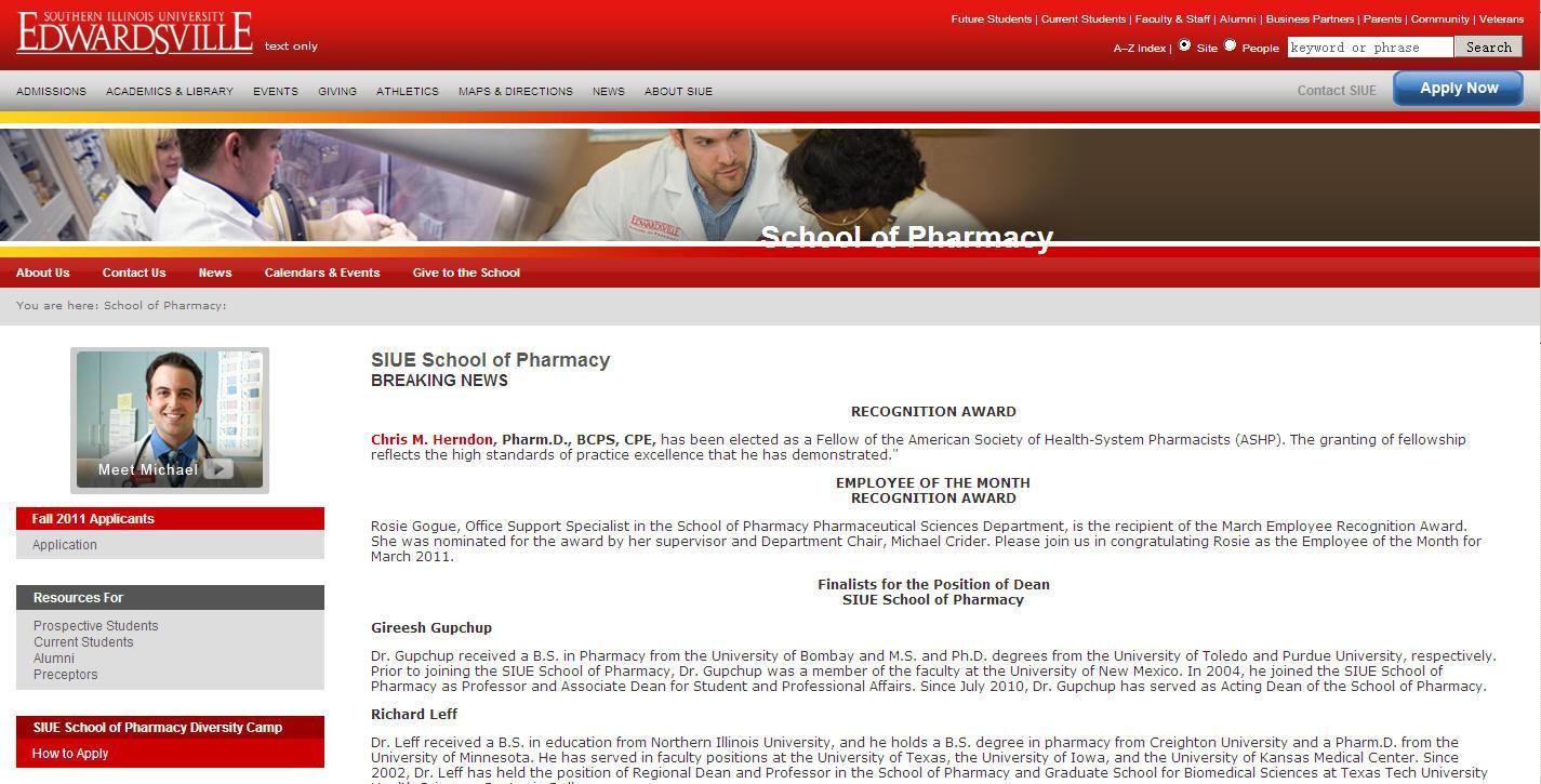 Southern Illinois University-Edwardsville School of Pharmacy