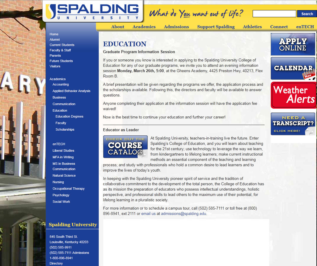 Spalding University College of Education
