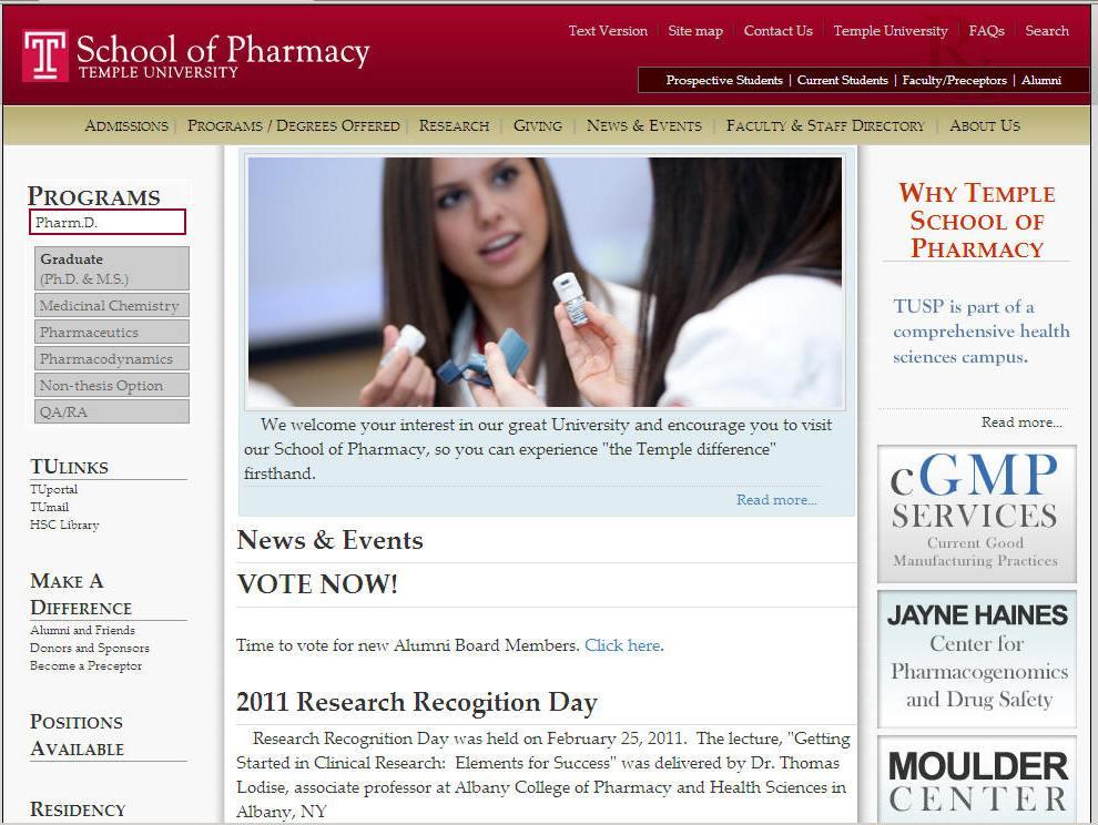Temple University School of Pharmacy