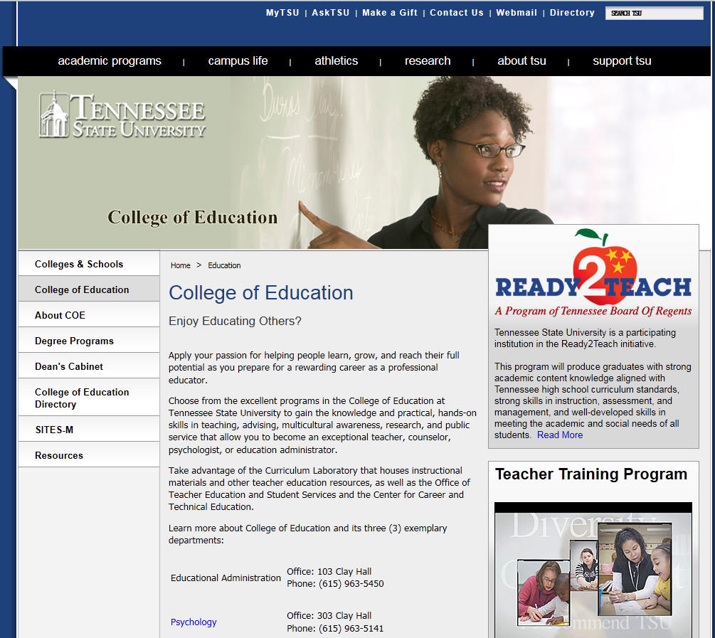 Tennessee State University College of Education