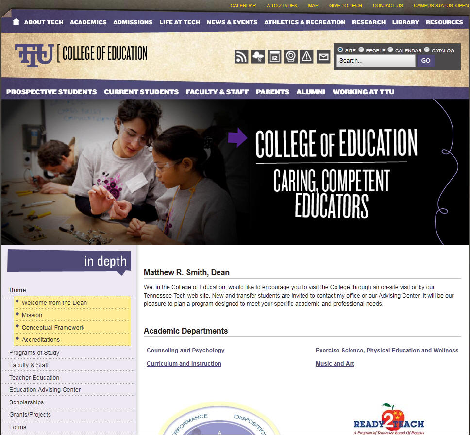 Tennessee Technological University College of Education