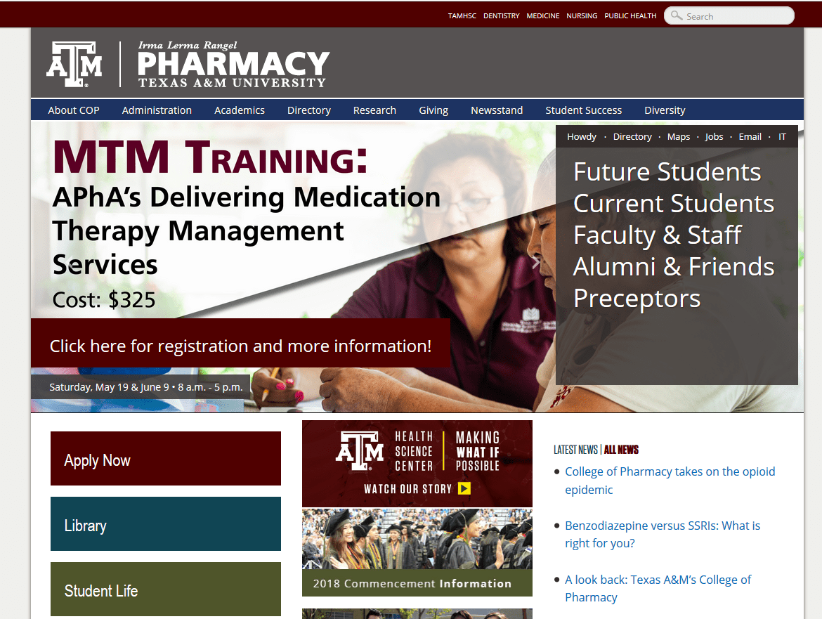 Texas A&M Health Science Center Irma Lerma Rangel College of Pharmacy