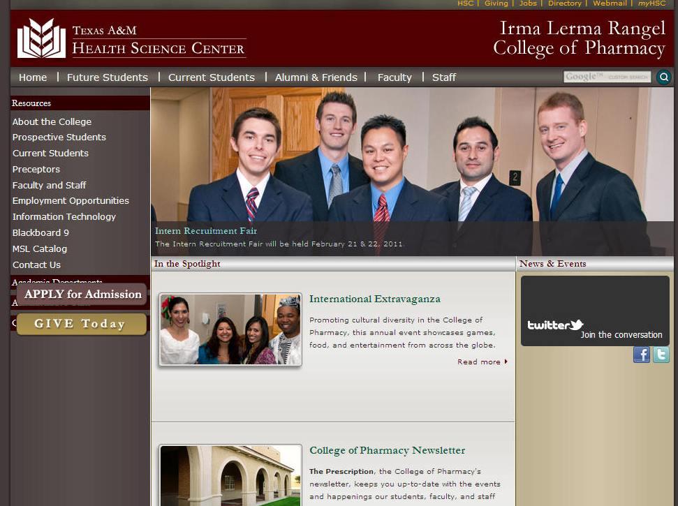 Texas AM Health Science Center Irma Lerma Rangel College of Pharmacy