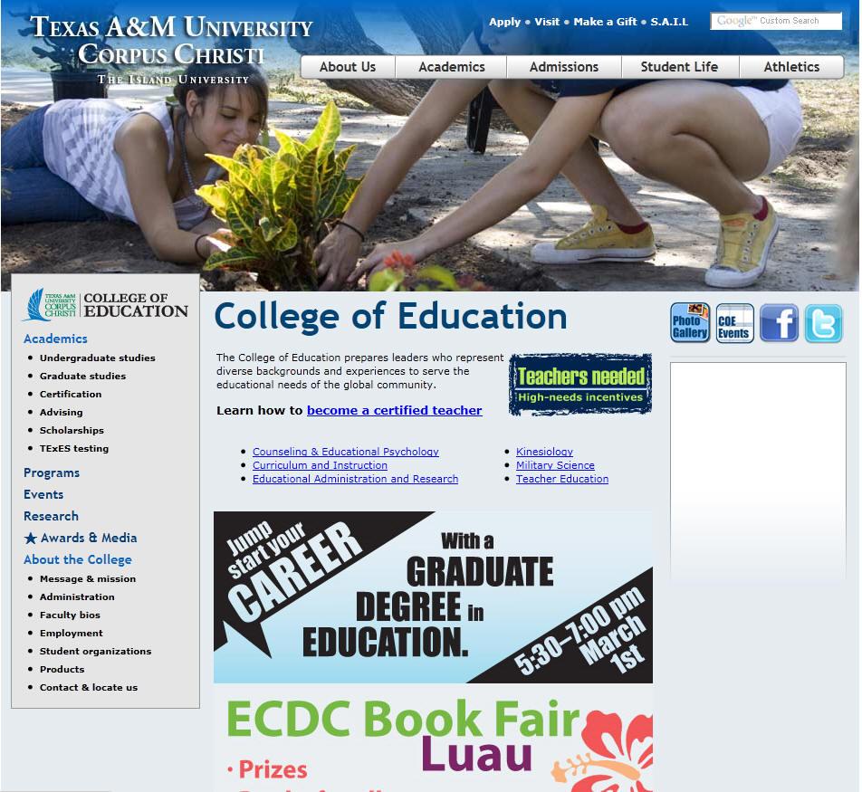 Texas AM University Corpus Christi College of Education