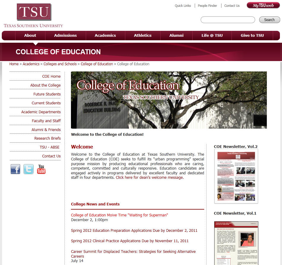 Texas Southern University College of Education