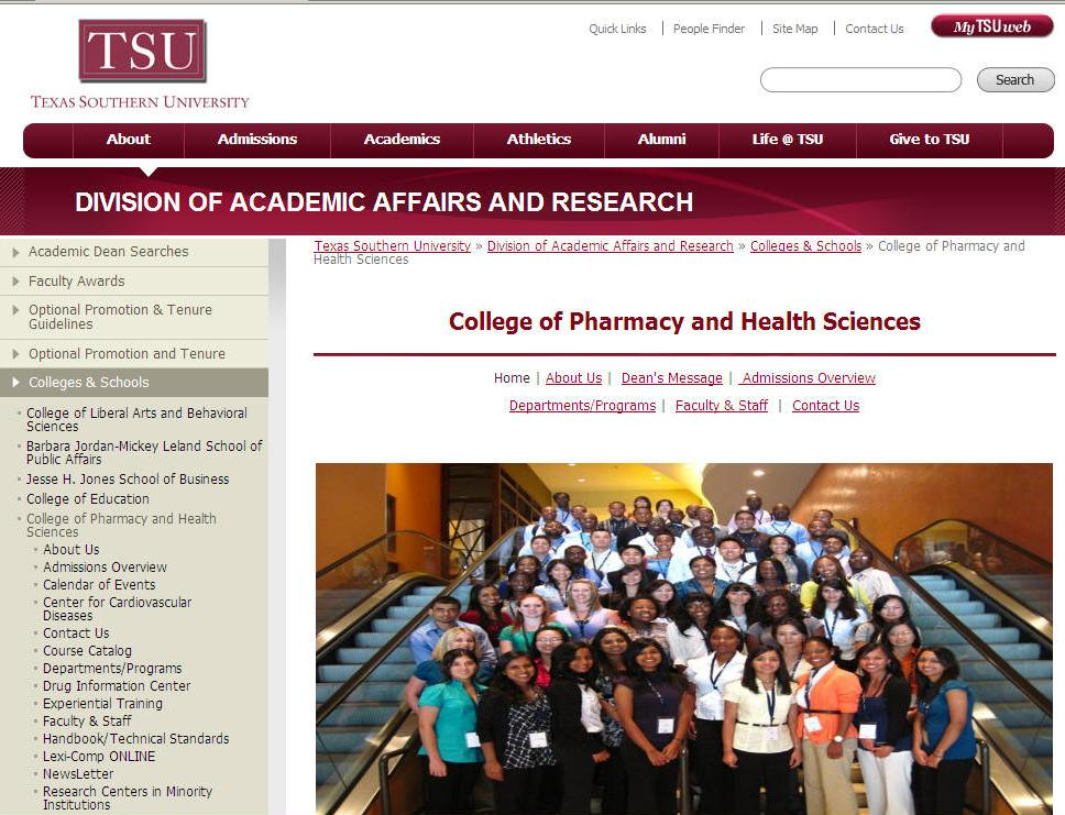 Texas Southern University College of Pharmacy and Health Sciences