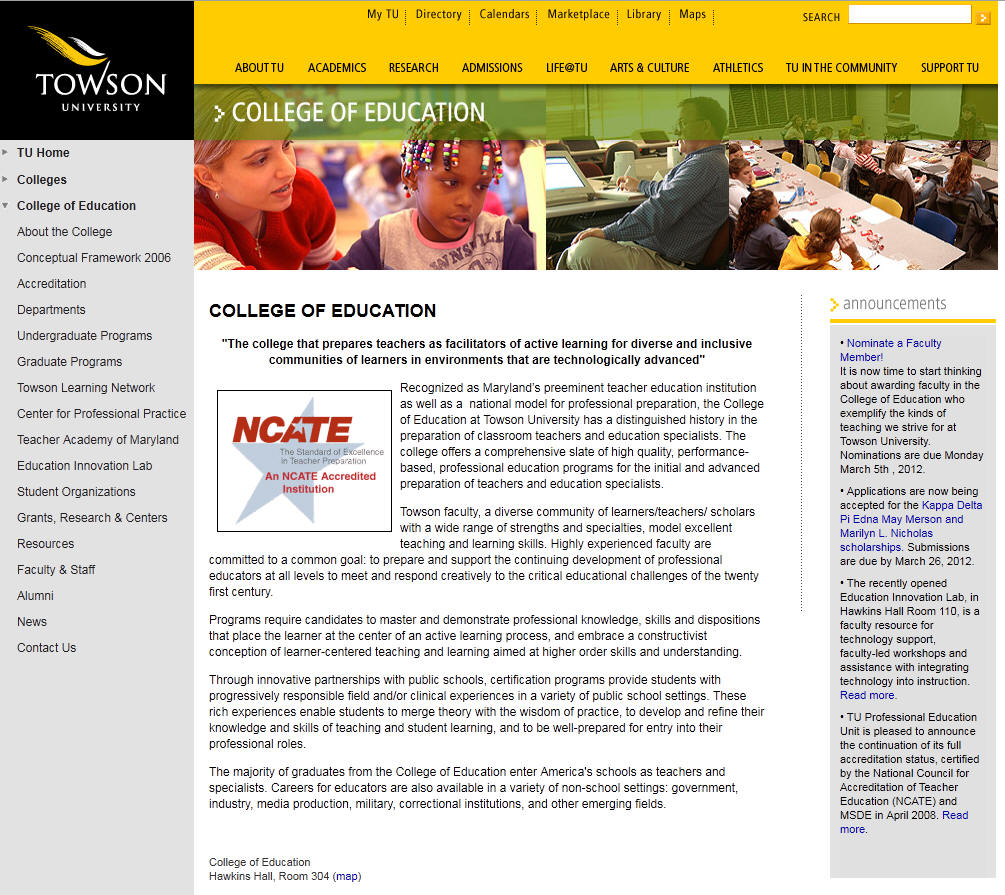 Towson University College of Education
