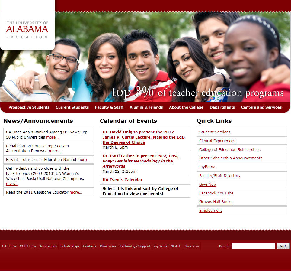 University of Alabama College of Education