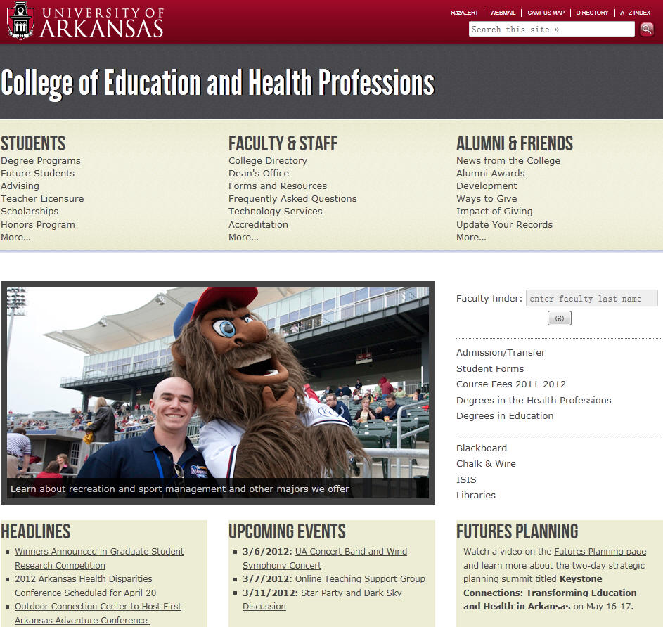 University of Arkansas Fayetteville College of Education and Health Professions
