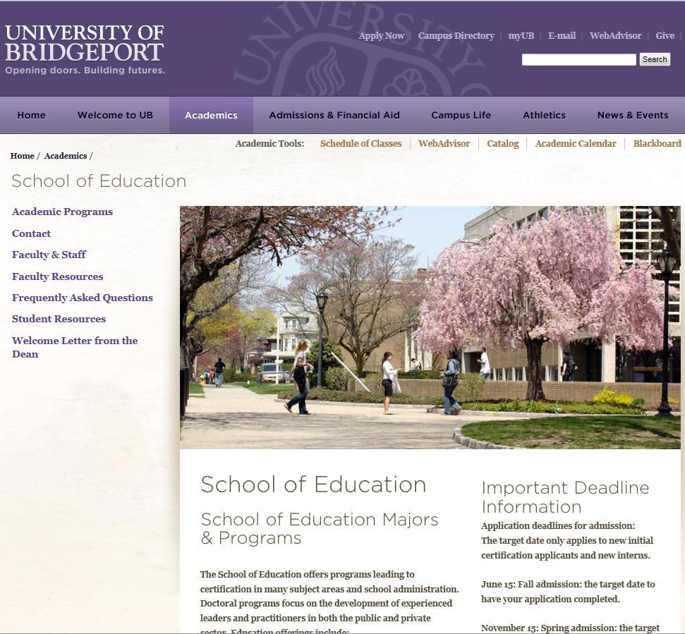 University of Bridgeport School of Education