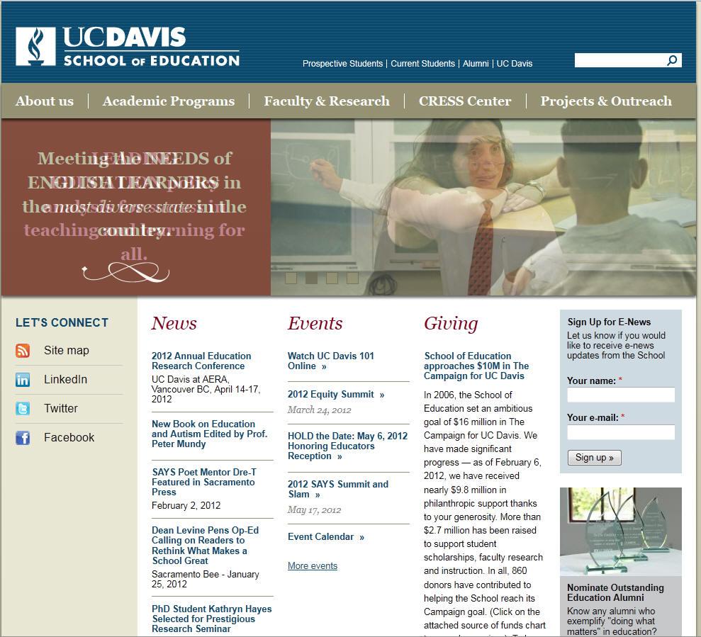 University of California Davis School of Education