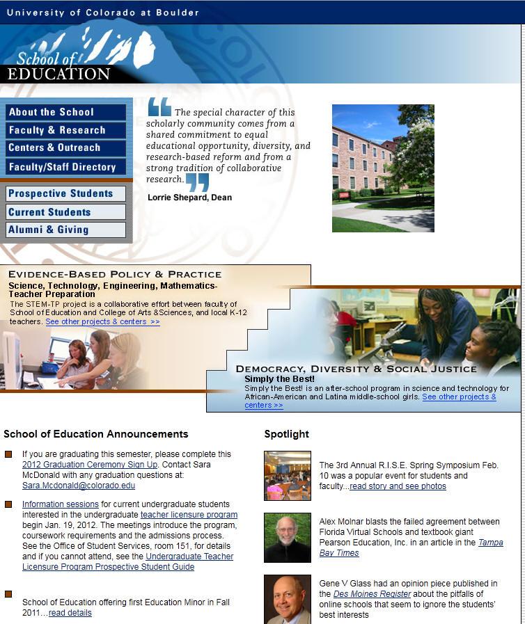 University of Colorado Boulder School of Education