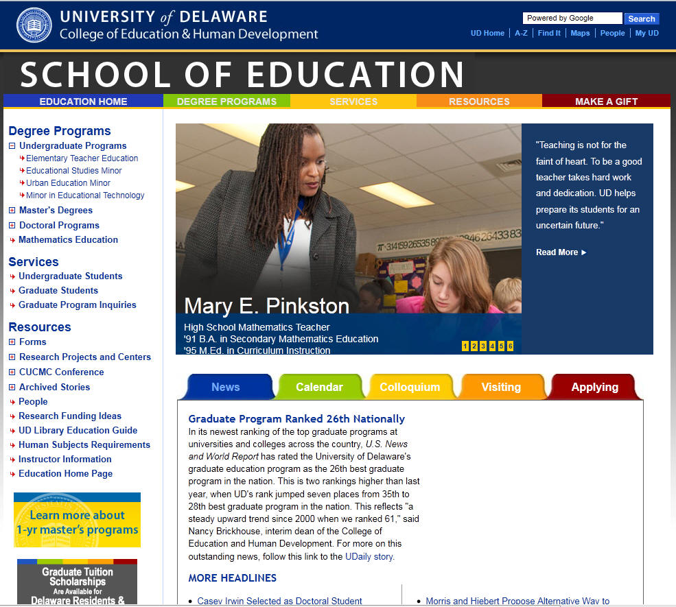 University of Delaware School of Education