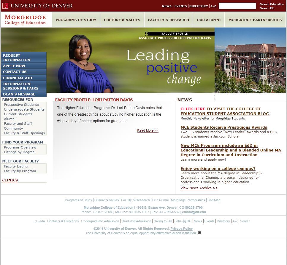 University of Denver Morgridge College of Education