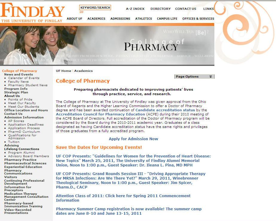 University of Findlay College of Pharmacy