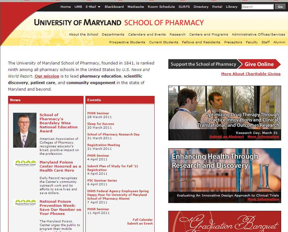 University of Maryland-Baltimore School of Pharmacy