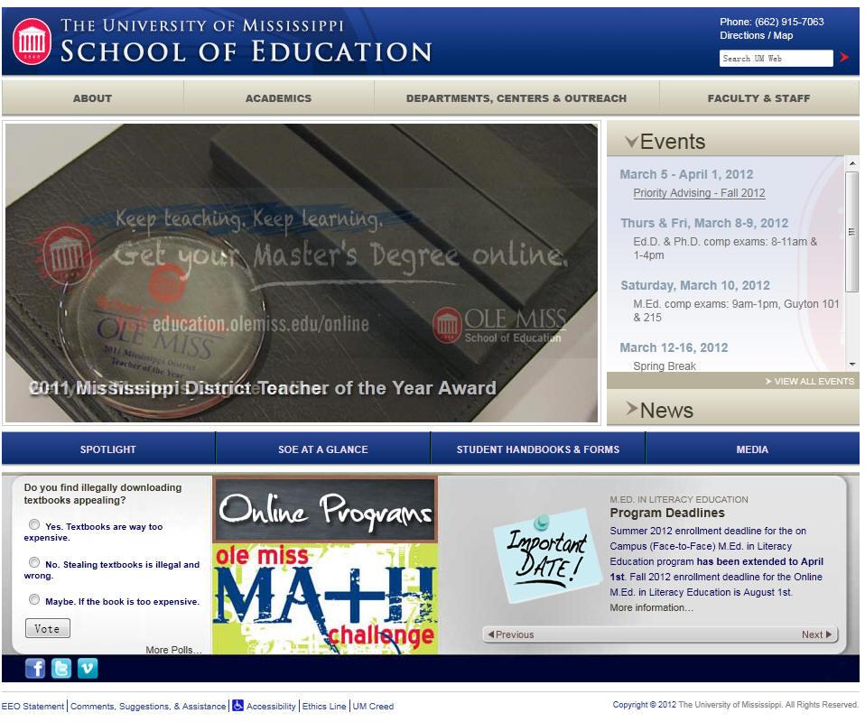 University of Mississippi School of Education