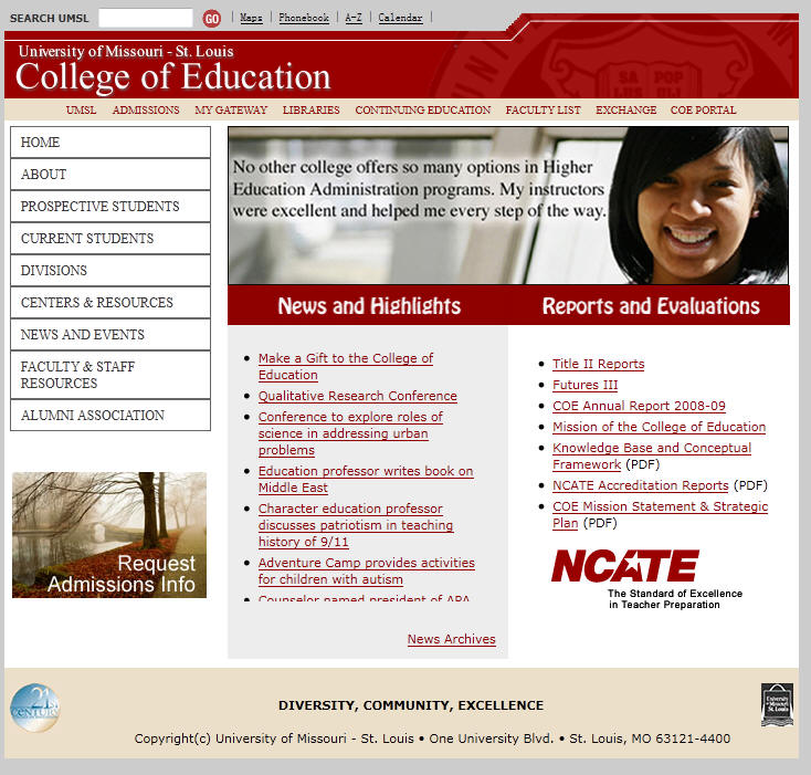 University of Missouri St Louis College of Education