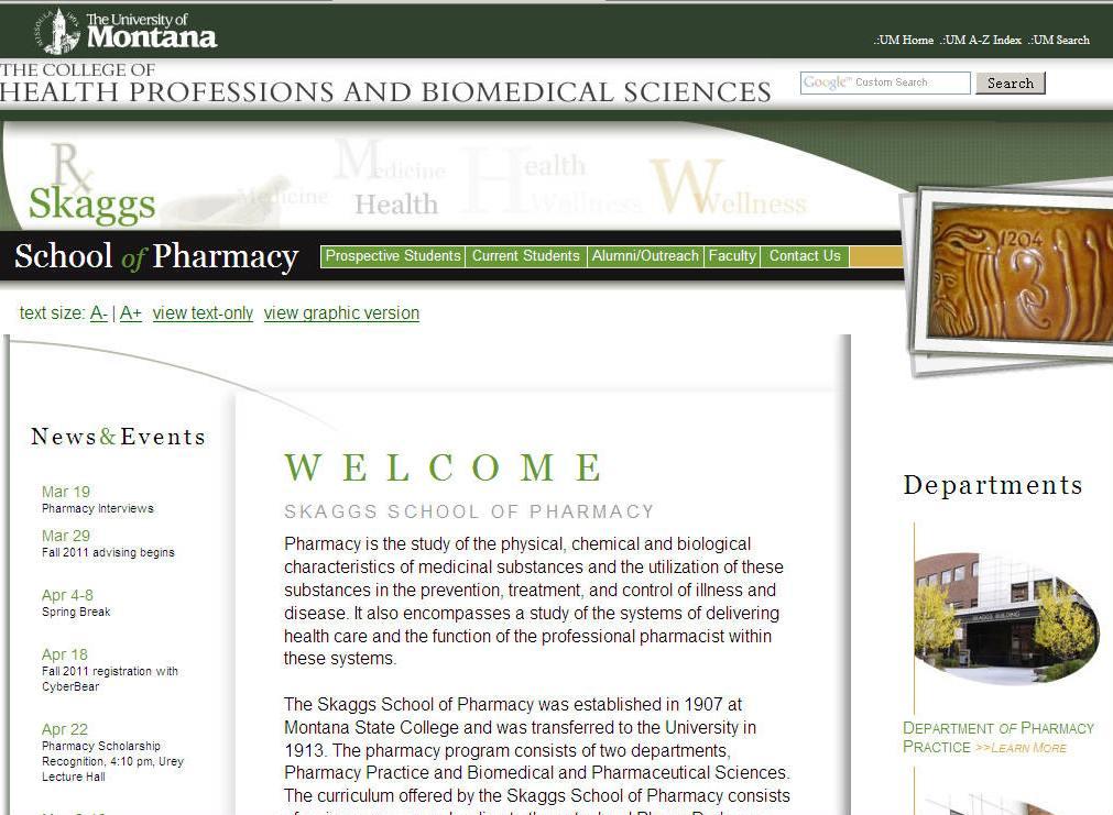 University of Montana Skaggs School of Pharmacy
