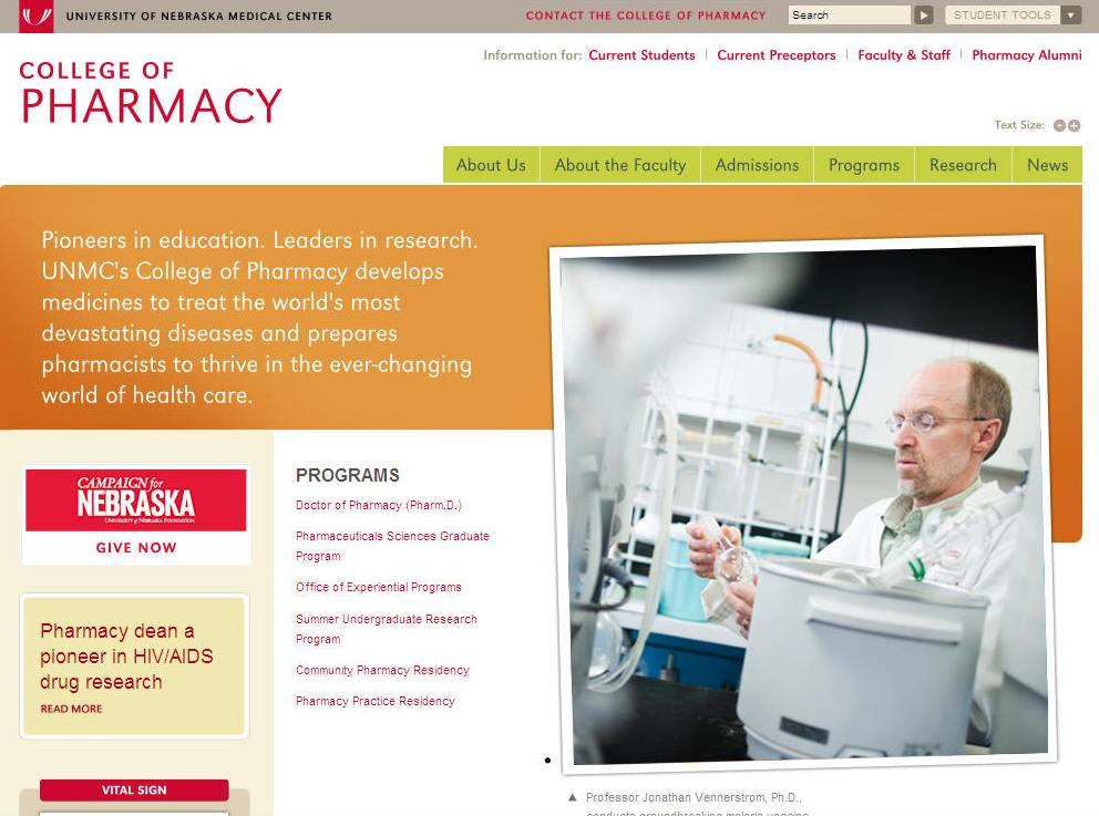 University of Nebraska Medical Center College of Pharmacy