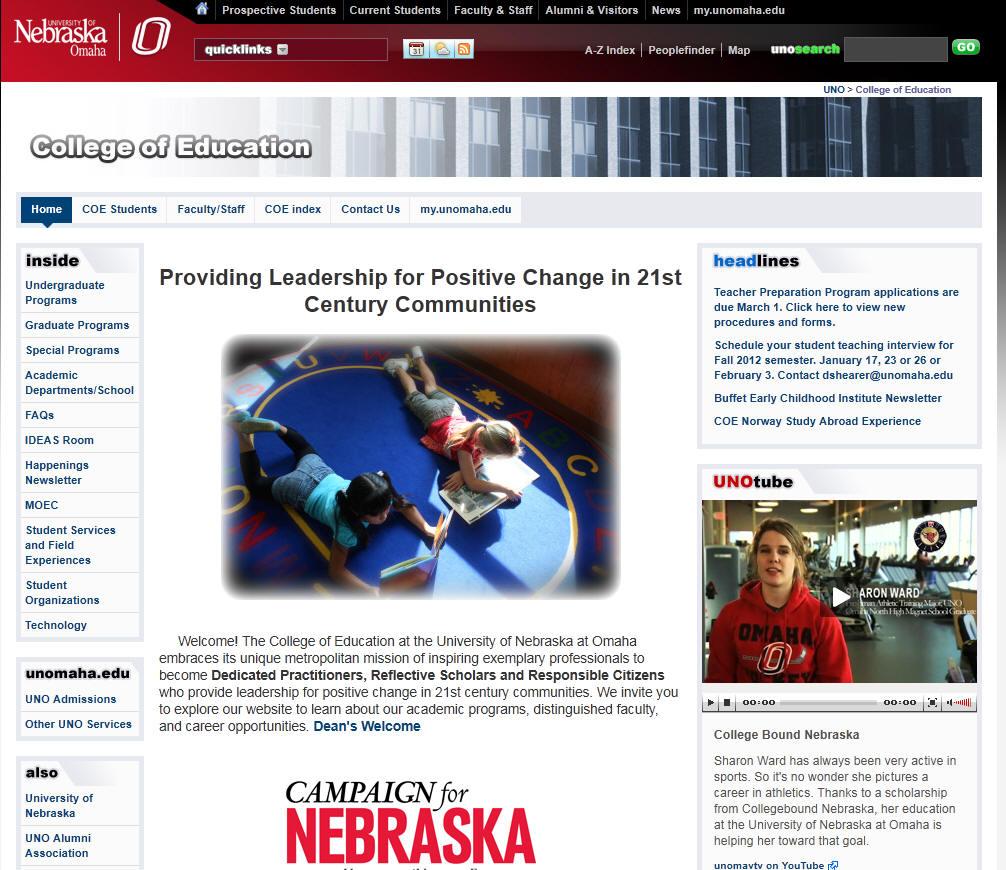 University of Nebraska Omaha College of Education